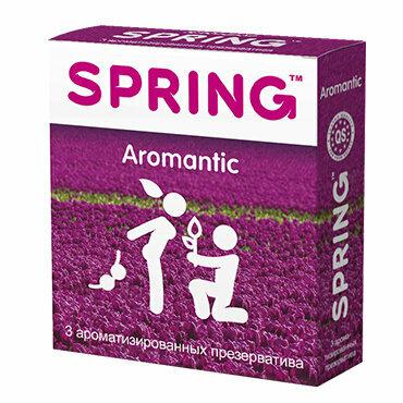 Ароматизированные презервативы SPRING  AROMATIC, тропические фрукты,3 шт.