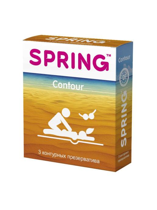 Контурные презервативы SPRING CONTOUR, 3 шт.