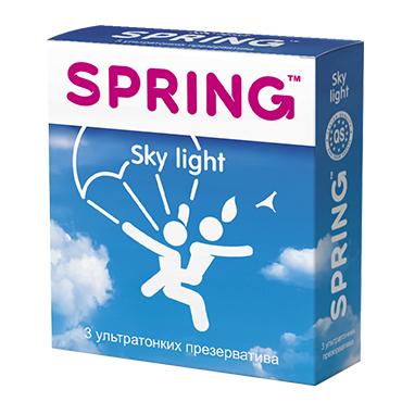 Ультратонкие презервативы SPRING SKY LIGHT,  3. шт.