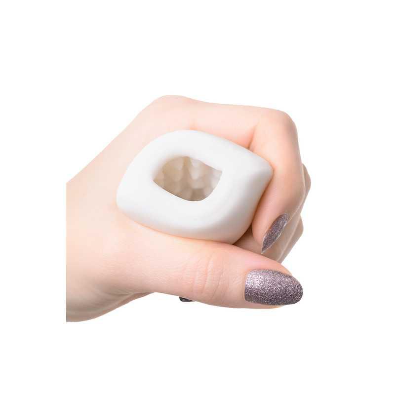 Мастурбатор нереалистичный, PUCCHI CANDY, MENSMAX TPE,  с выделением смазки, белый, 6,5 см