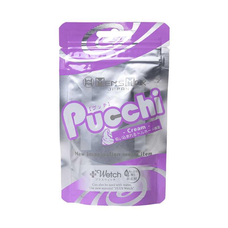 Мастурбатор нереалистичный PUCCHI CREAM, MENSMAX TPE, с выделением смазки, белый, 6,5 см