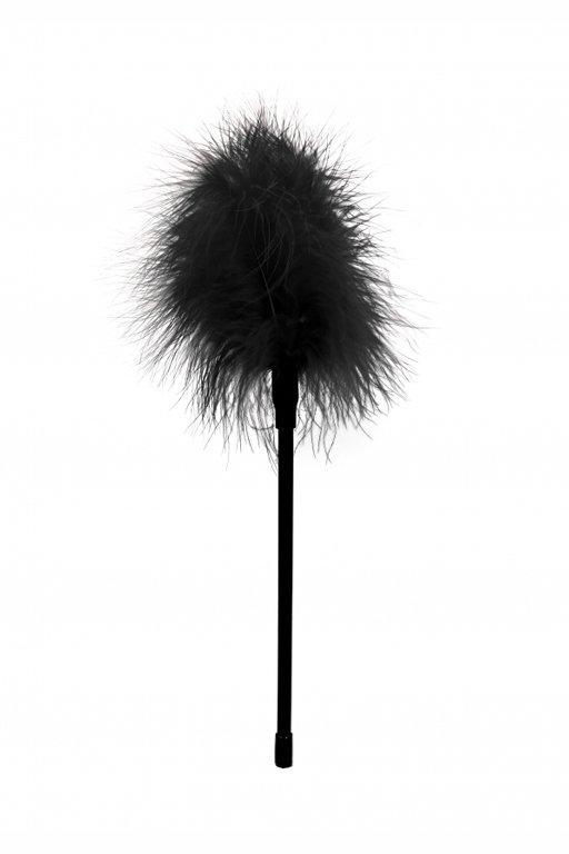 Кисточка-щекоталка для эротических игр OUCH! FEATHER, черная, 27 см