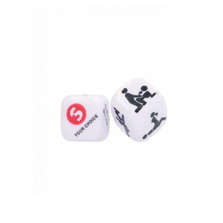 Игральные кубики SEXY DICE, белые