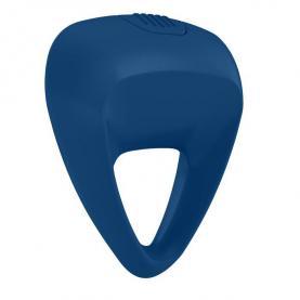 Эрекционное виброкольцо синее, силикон